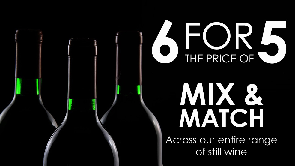 6 bottles of wine for the price of 5